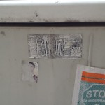 Worn Econore sticker in Berlin