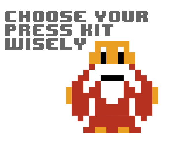 Wise man telling you to choose your press kit wisely