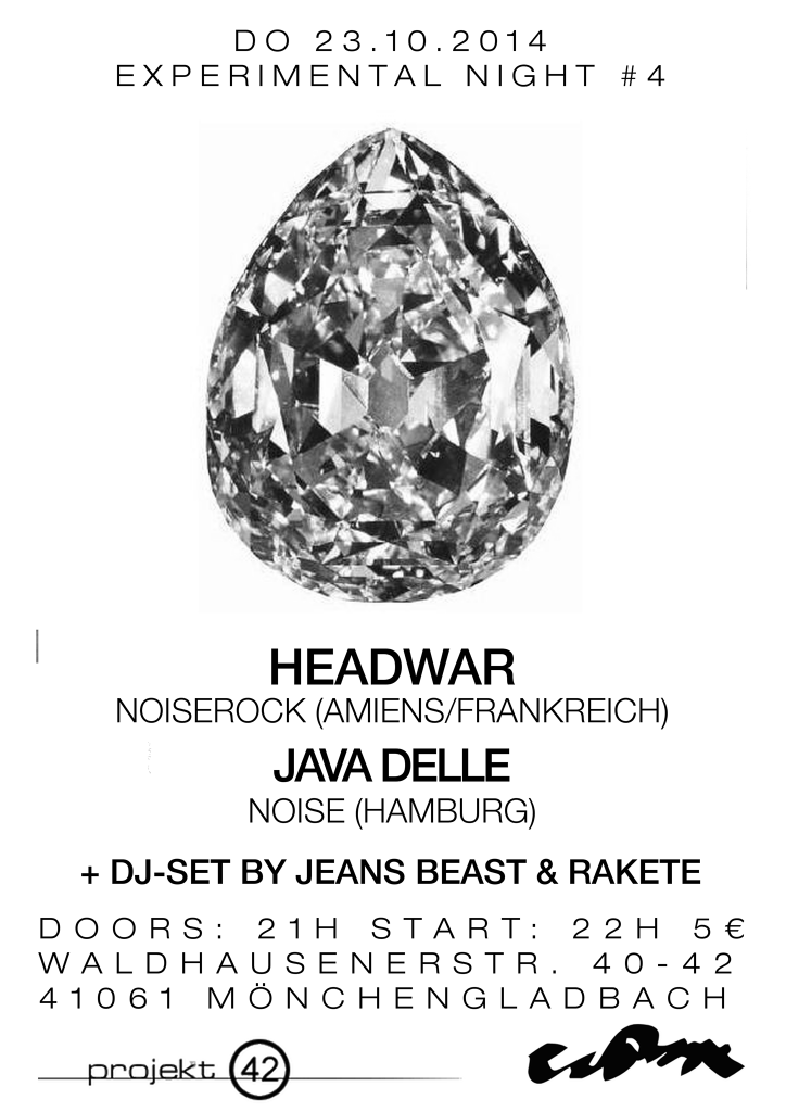 Poster of Econore Experimental Night #4 - Headwar, Java Delle