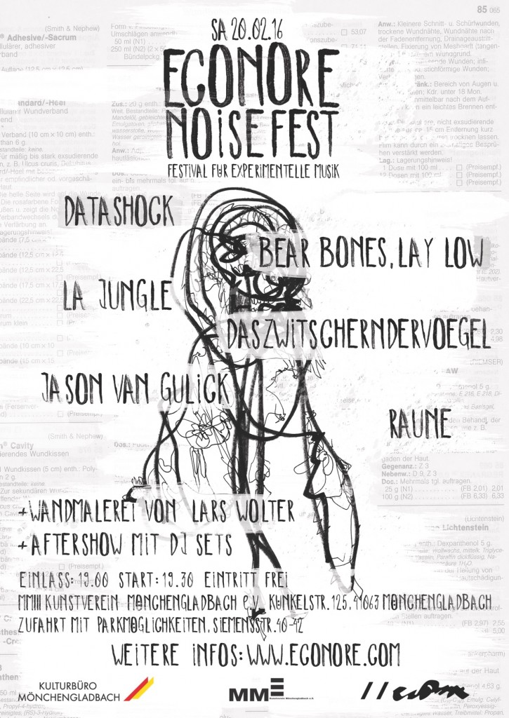 Econore Noise Fest Poster and Lineup