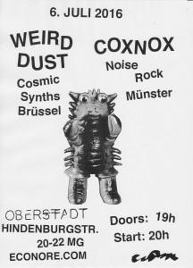 Concert Coxnox - Weird Dust - 06-07-16 Mönchengladbach